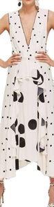 Topshop Midi Pinafore Polka dot Dress
